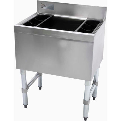 Slimline Cocktail Unit, 18X36X16 Cold Plate, 220-Lbs. Ice Capacity