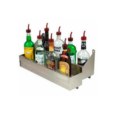 "Bottle Rack, 12"", Double Tier (Integral) Keyhole, S/S"