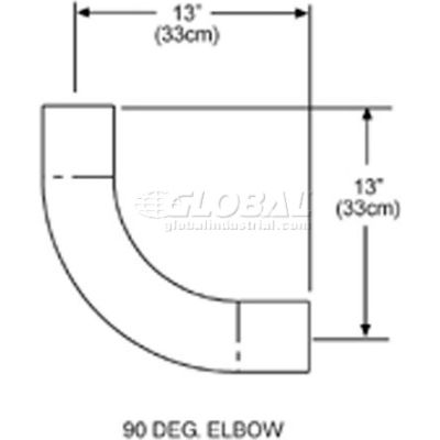 SunStar 90° Elbow - For Straight Infrared Tube Heaters 43208010