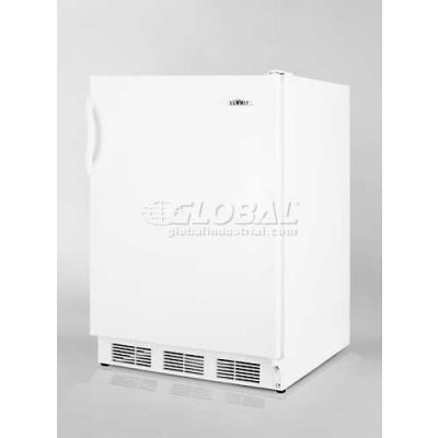 Summit-ADA Comp Refrigerator-Freezer For Freestanding Use, White Exterior, Cycle Defrost