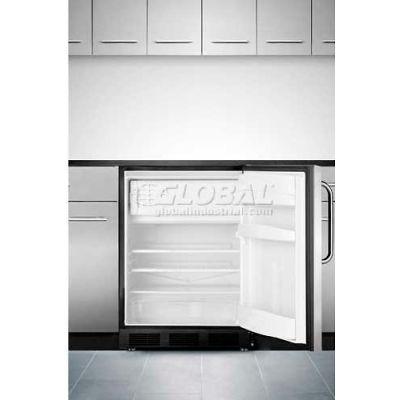 Summit-Refrigerator-Freezer, ADA Compliant, Built-In Undercounter, S/S Door, Black