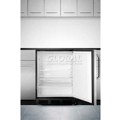 Summit ADA Comp Built in Undercounter Refrigerator 5.5 Cu. Ft. Black