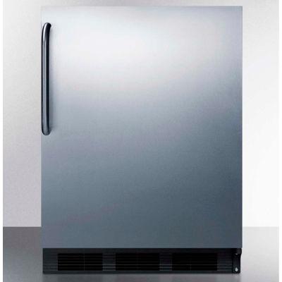 Summit  ADA Comp Built in Undercounter Refrigerator 5.5 Cu. Ft. Black/Stainless Steel