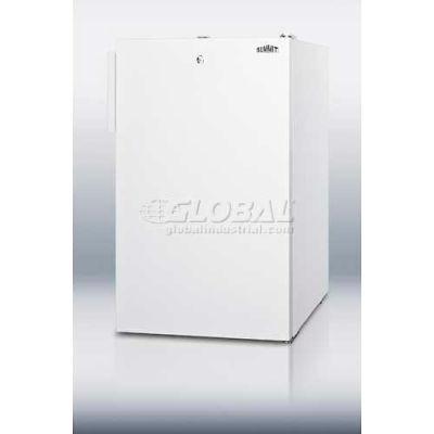 Summit CM411LADA ADA Comp Counter Height Refrigerator-Freezer w/Lock 4.1 Cu. Ft. White
