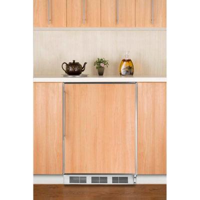 Summit CT66JBIFR Built In Undercounter Refrigerator-Freezer 5.1 Cu. Ft. White
