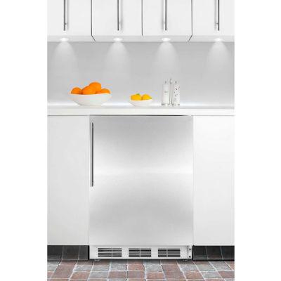 Summit CT66JBISSHVADA ADA Comp Built In Refrigerator-Freezer 5.1 Cu. Ft. White/Stainless Steel