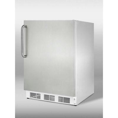 Summit CT66JCSSADA ADA Comp Built In Refrigerator-Freezer 5.1 Cu. Ft. Stainless Steel