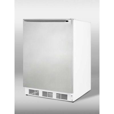 Summit CT66JSSHHADA ADA Comp Freestanding Refrigerator-Freezer 5.1 Cu. Ft. White/Stainless Steel