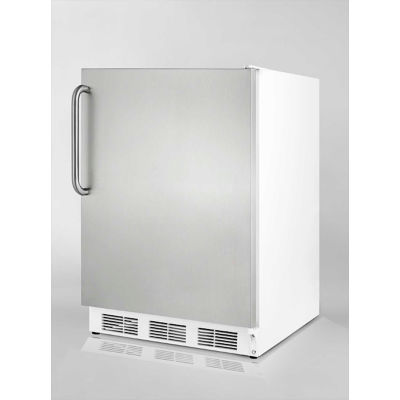 Summit CT66JSSTB Freestanding Refrigerator-Freezer 5.1 Cu. Ft. White/Stainless Steel