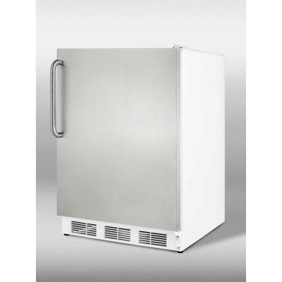 Summit CT66JSSTBADA ADA Comp Freestanding Refrigerator-Freezer 5.1 Cu. Ft. White/Stainless Steel