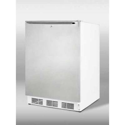 Summit-ADA Comp Refrigerator-Freezer For Freestanding , White, S/S Door
