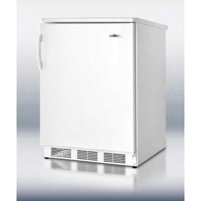 Summit  Freestanding Counter Height All Refrigerator 5.5 Cu. Ft. White