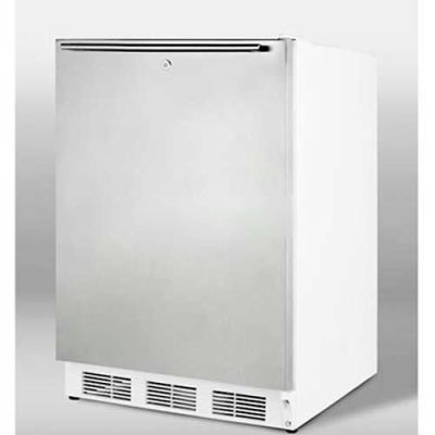Summit-ADA Comp All-Refrigerator For Freestanding ,, S/S Door, Lock