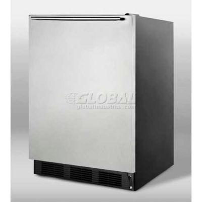 Summit-ADA Comp Freestanding All-Refrigerator, S/S Door, Horizontal Handle, Black,