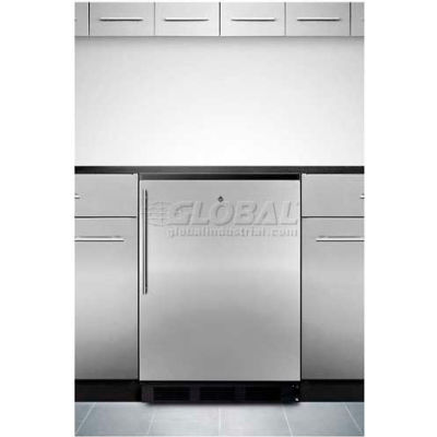 Summit  Built In Undercounter All Refrigerator 5.5 Cu. Ft. Stainless Steel
