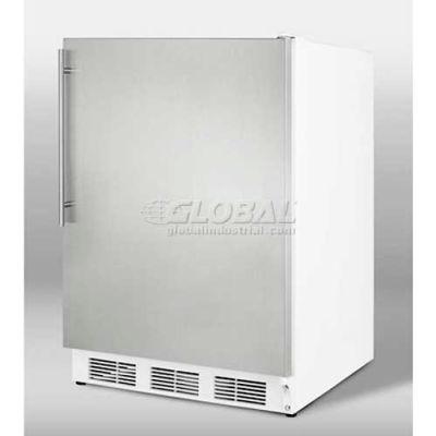 Summit  Freestanding Undercounter Refrigerator W/Lock 5.5 Cu. Ft. White