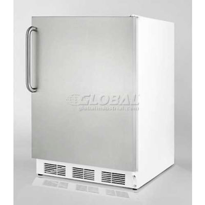 Summit  Commercial Freestanding-Undercounter All Refrigerator 5.5 Cu. Ft. White/SS