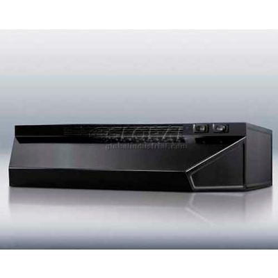 "Summit-20""W Convertible Range Hood For Ducted Or Ductless Use, Black"