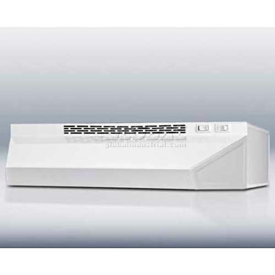 """Summit-Range Hood, 20""""W Convertible For Ducted Or Ductless Use, White"""