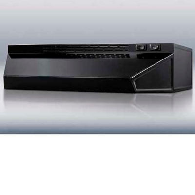 """Summit-36""""W Convertible Range Hood For Ducted Or Ductless Use, Black"""