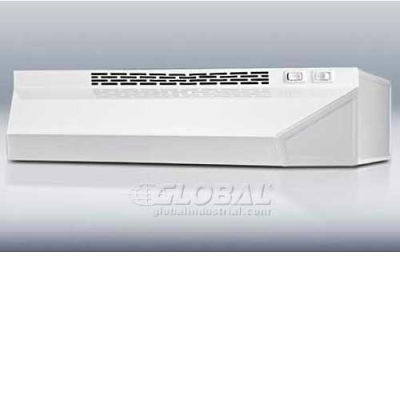 """Summit-36""""W Convertible Range Hood, Ducted Or Ductless Use, White"""