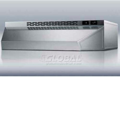 """Summit-42""""W Convertible Range Hood For Ducted Or Ductless Use, S/S"""