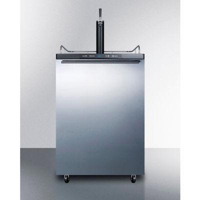 "Summit SBC635MOSHH - Beer Dispenser, Freestanding Residential Outdoor, 5.6 Cu. Ft, 24""W x  49""H, S/S"