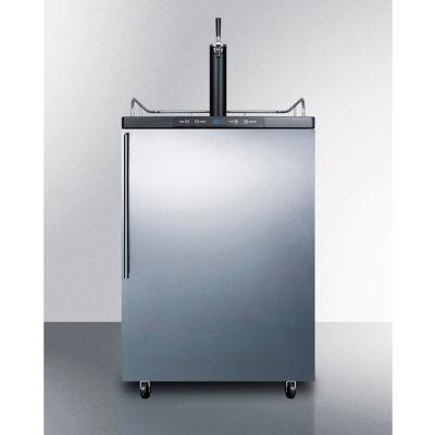 "Summit SBC635MOSHV - Beer Dispenser, Freestanding Residential Outdoor, 5.6 Cu. Ft., 24""W x 49""H, S/S"