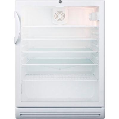 Summit-ADA Comp Commercial Glass Door Refrigerator, Freestanding Use, Lock