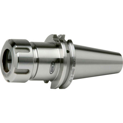 "CAT40 ER40 - 2.50"" Gauge Collet Chuck, Premium Balanced, DIN Coolant Thru Capabilities, Ground Body"