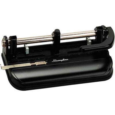 Swingline® Lever Handle Heavy Duty Punch, 2 - 7 Holes, 32 Sheets, Black