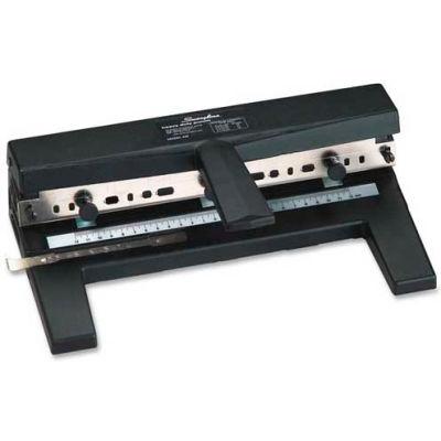 Swingline® Heavy Duty Punch, 2 - 7 Holes, Adjustable Centers, A4 Compatible, 40 Sheets, Black