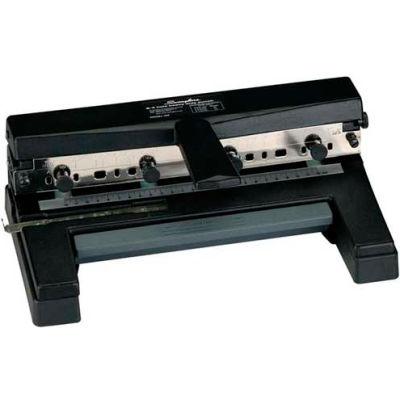 Swingline® Heavy Duty Punch, 2 - 4 Holes, Adjustable Centers, A4 Compatible, 40 Sheets, Black