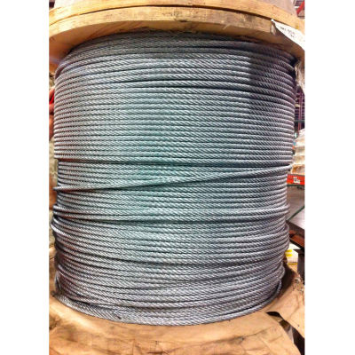 """Southern Wire® 1000' 1/8"""" Diameter 7x19 Galvanized Aircraft Cable"""