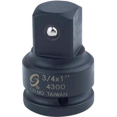 """Sunex Tools 4300 3/4"""" Drive 3/4"""" Female to 1"""" Male Adapter"""