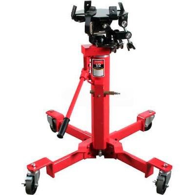 Sunex Tools 7796 1/2 Ton Air & Hydraulic Telescopic Trans Jack, Universal Saddle, Foot Activated