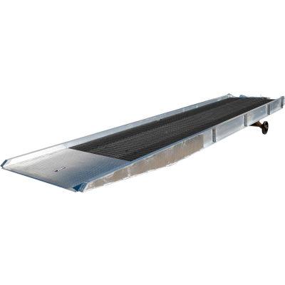 Aluminum Yard Ramp SY-208436-L with Steel Grating 36'L 20,000 Lb. Cap.