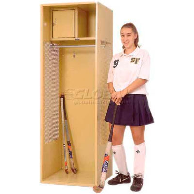 Penco 6WFD11-767 Stadium® Locker With Shelf & Security Box,24x18x76, Cardinal Red, All Welded
