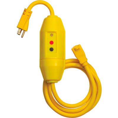 Tower Mfg 30338022-01 GFCI Cord Set, In-Line, Auto Reset, 6 FT, Yellow