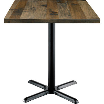 "KFI 30"" Square Counter Table with Vintage Wood - Barnwood"