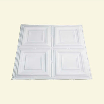 Great Lakes Tin Syracuse 2' X 2' Lay-in Tin Ceiling Tile in Matte White - Y50-01