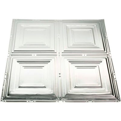 Great Lakes Tin Syracuse 2' X 2' Lay-in Tin Ceiling Tile in Unfinished - Y50-03