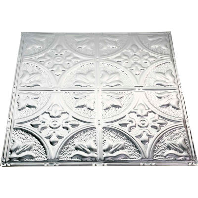 Great Lakes Tin Jamestown 2' X 2' Lay-In Tin Ceiling Tile in Clear - Y51-04