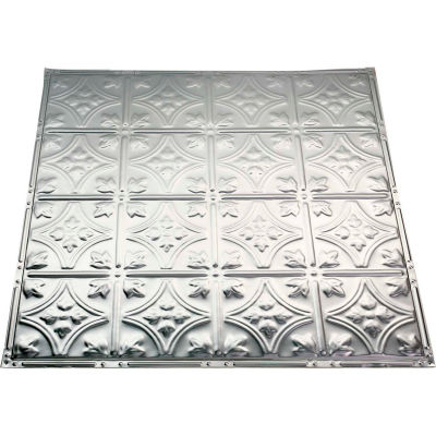 Great Lakes Tin Hamilton 2' X 2' Lay-in Tin Ceiling Tile in Clear - Y52-04