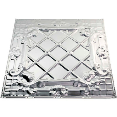 Great Lakes Tin Toledo 2' X 2' Lay-in Tin Ceiling Tile in Clear - Y55-04