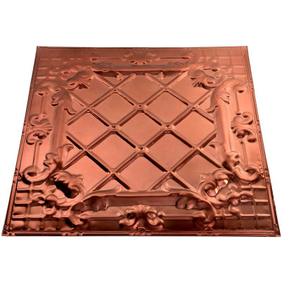 Great Lakes Tin Toledo 2' X 2' Lay-in Tin Ceiling Tile in Penny Vein - Y55-05
