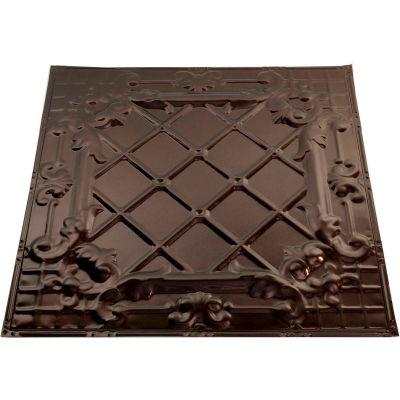 Great Lakes Tin Toledo 2' X 2' Nail-up Tin Ceiling Tile in Bronze Burst - T55-06