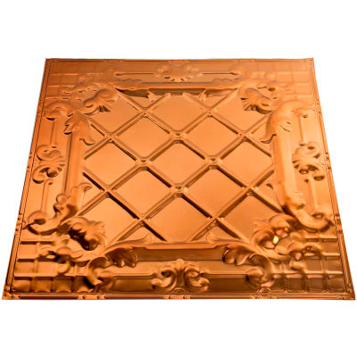 Great Lakes Tin Toledo 2' X 2' Lay-in Tin Ceiling Tile in Copper - Y55-08