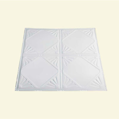 Great Lakes Tin Erie 2' X 2' Lay-in Tin Ceiling Tile in Matte White - Y56-01