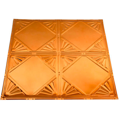 Great Lakes Tin Erie 2' X 2' Lay-in Tin Ceiling Tile in Copper - Y56-08